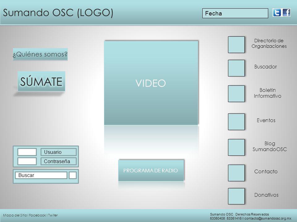 Sumando OSC (LOGO) ¿Quiénes somos? Buscador Directorio de Organizaciones Eventos Boletín Informativo Contacto Blog SumandoOSC Usuario Contraseña Busca