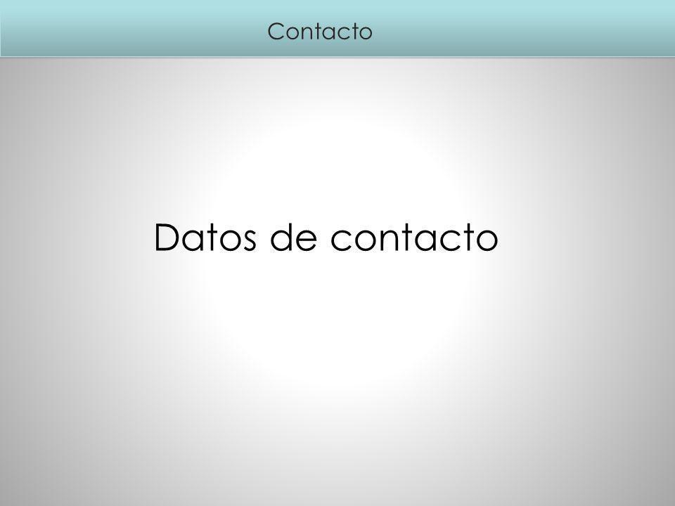 Contacto Datos de contacto