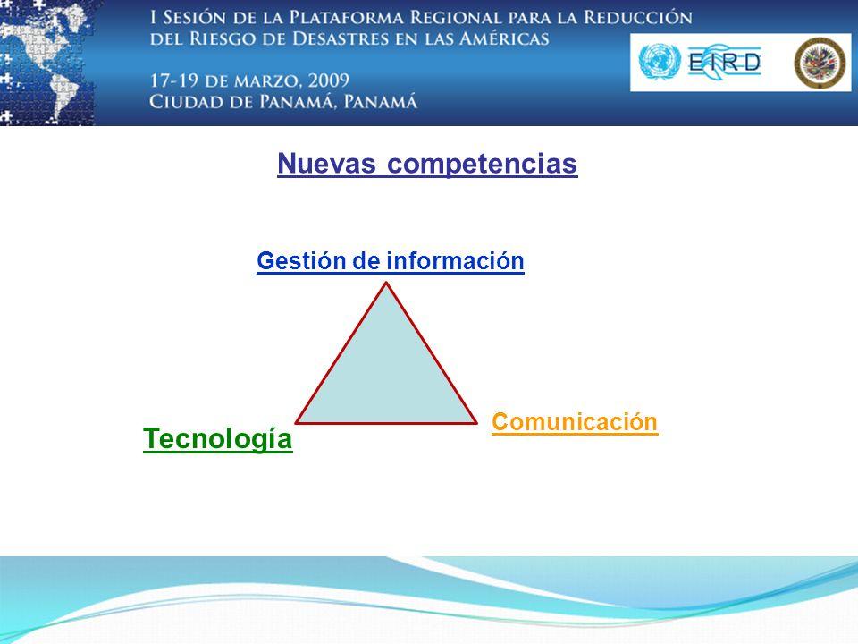 Nuevas competencias Gestión de información Tecnología Comunicación