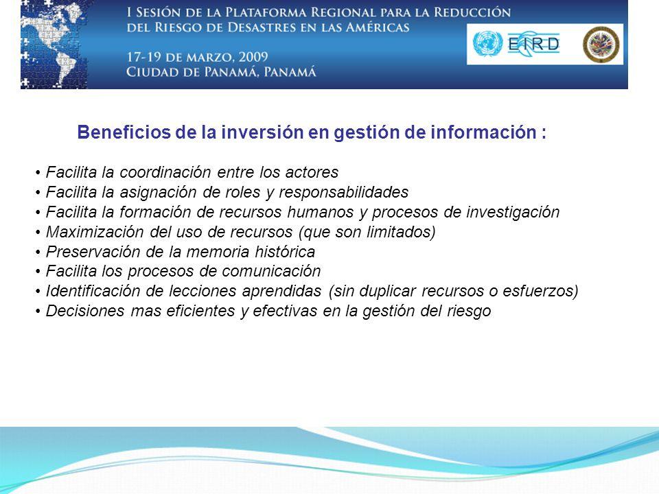 Bibliotecas y colecciones virtuales Información geo-referencial Incipiente uso de redes sociales Más oportunidades de formación.