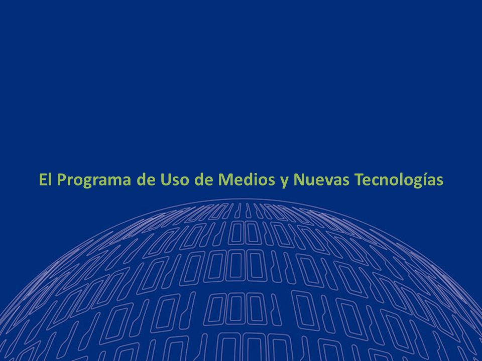 2007 - 20102011 - 20142003 - 20061999 - 2002 2000-2002 Plan Estratégico MEN Programa Difusión de Nuevas Tecnologías Dotación de infraestructura Capacitación de docentes Creación de un portal educativo Observatorio de nuevas tecnologías en la educación