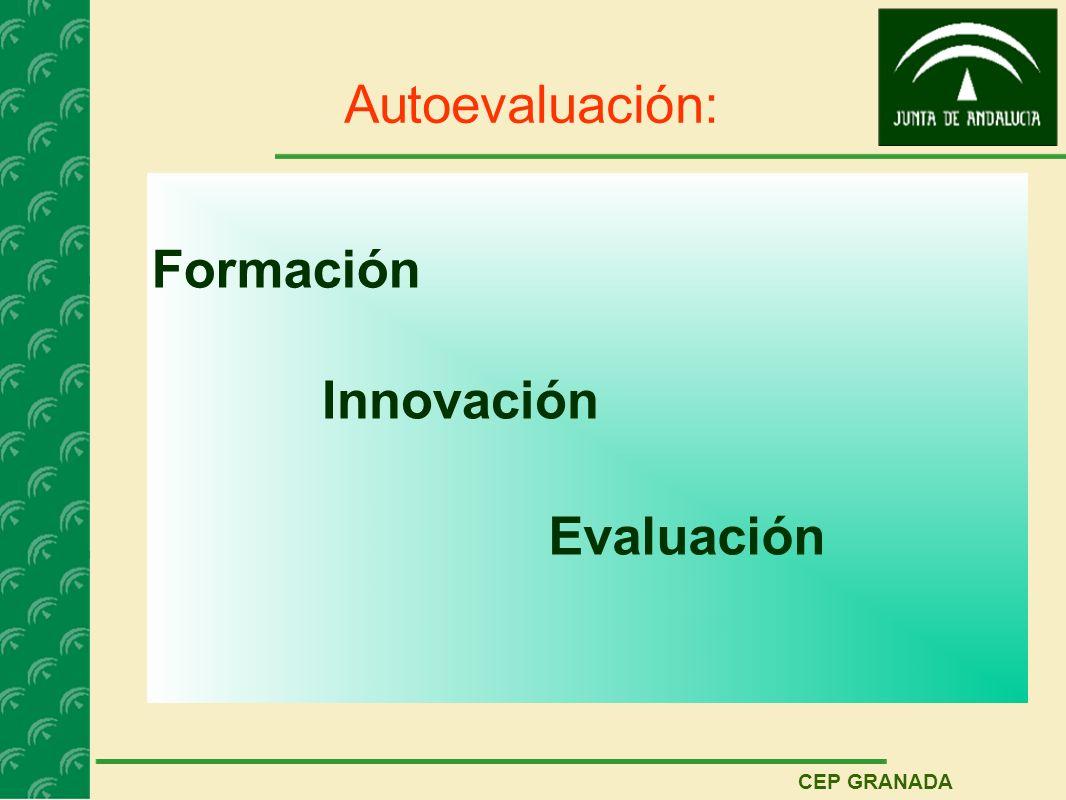 CEP GRANADA Autoevaluación: Formación Innovación Evaluación