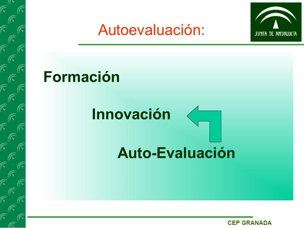 CEP GRANADA Autoevaluación: Formación Innovación Evaluación Auto-