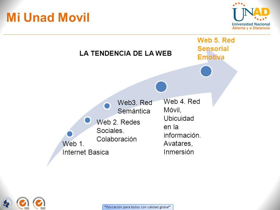 Educación para todos con calidad global Mi Unad Movil LA TENDENCIA DE LA WEB Web3.