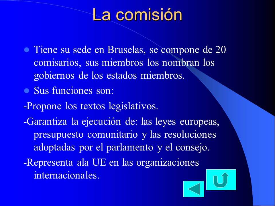 El consejo Tiene su sede en Bruselas, lo forman un representante de del gobierno de cada país miembro.