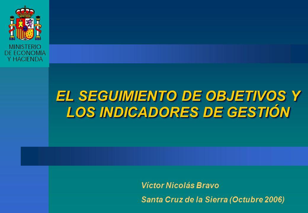 EL SEGUIMIENTO DE OBJETIVOS Y LOS INDICADORES DE GESTIÓN Víctor Nicolás Bravo Santa Cruz de la Sierra (Octubre 2006)