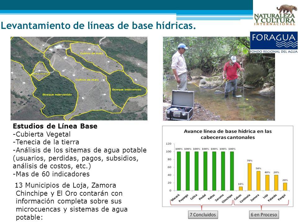 Levantamiento de líneas de base hídricas. 13 Municipios de Loja, Zamora Chinchipe y El Oro contarán con información completa sobre sus microcuencas y