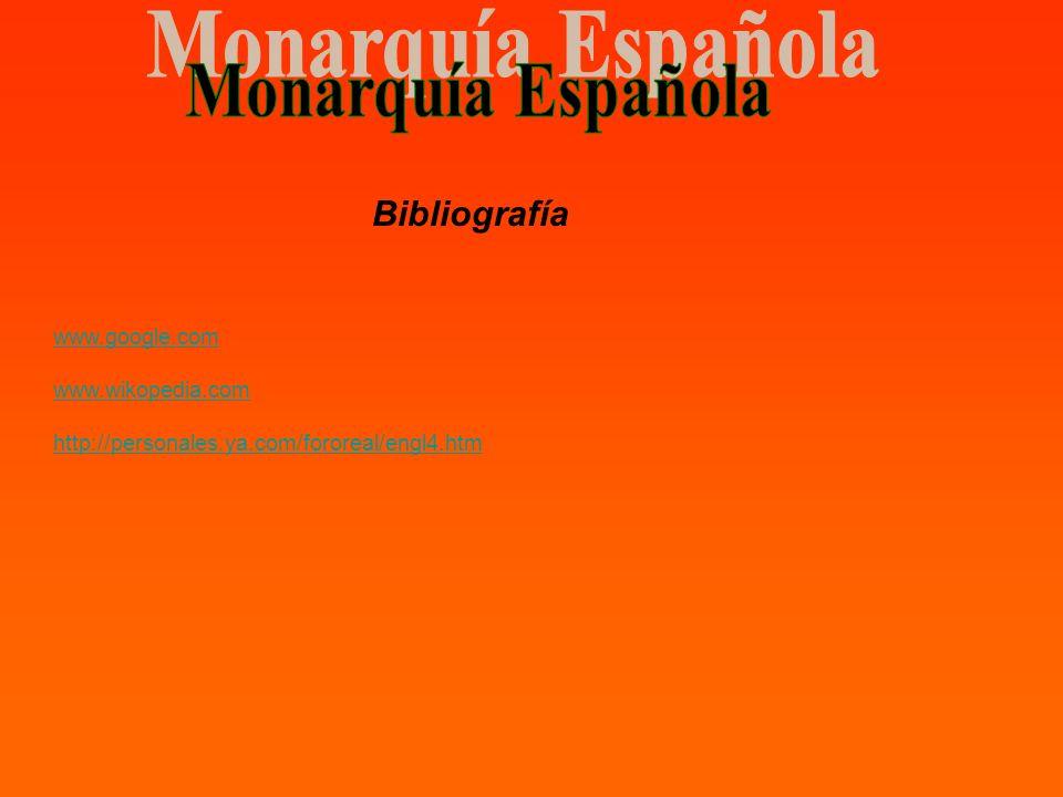 Bibliografía www.google.com www.wikopedia.com http://personales.ya.com/fororeal/engl4.htm