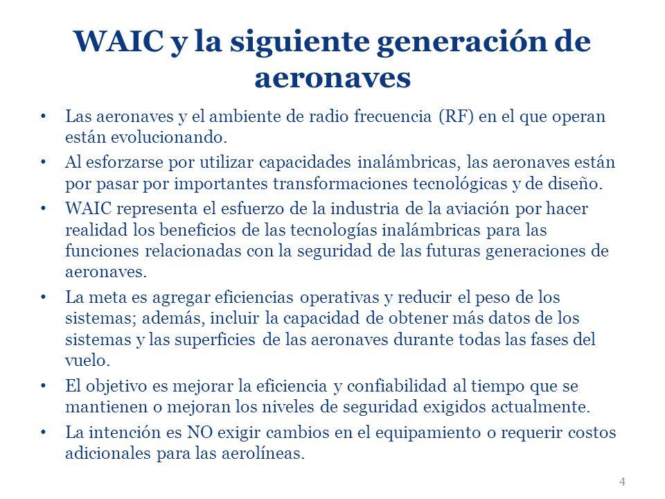4 WAIC y la siguiente generación de aeronaves Las aeronaves y el ambiente de radio frecuencia (RF) en el que operan están evolucionando. Al esforzarse