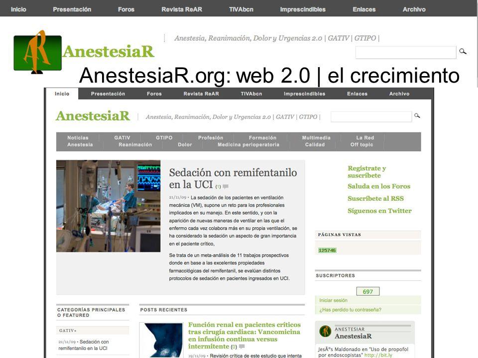 CAMBIAR ESTO POR UNA SCREENING SACADO DEL ORDENADOR GRANDE AnestesiaR.org: web 2.0 | el crecimiento