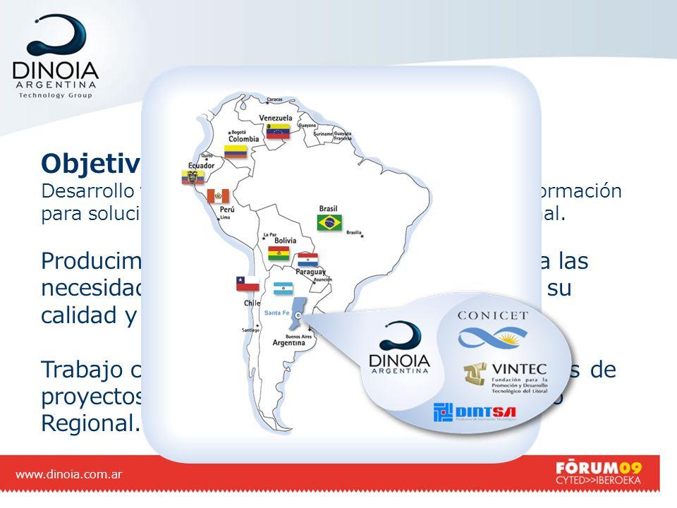 Objetivo de nuestra empresa Desarrollo y aplicación de nuevas tecnologías de la información para soluciones a empresas del mercado local y regional. P