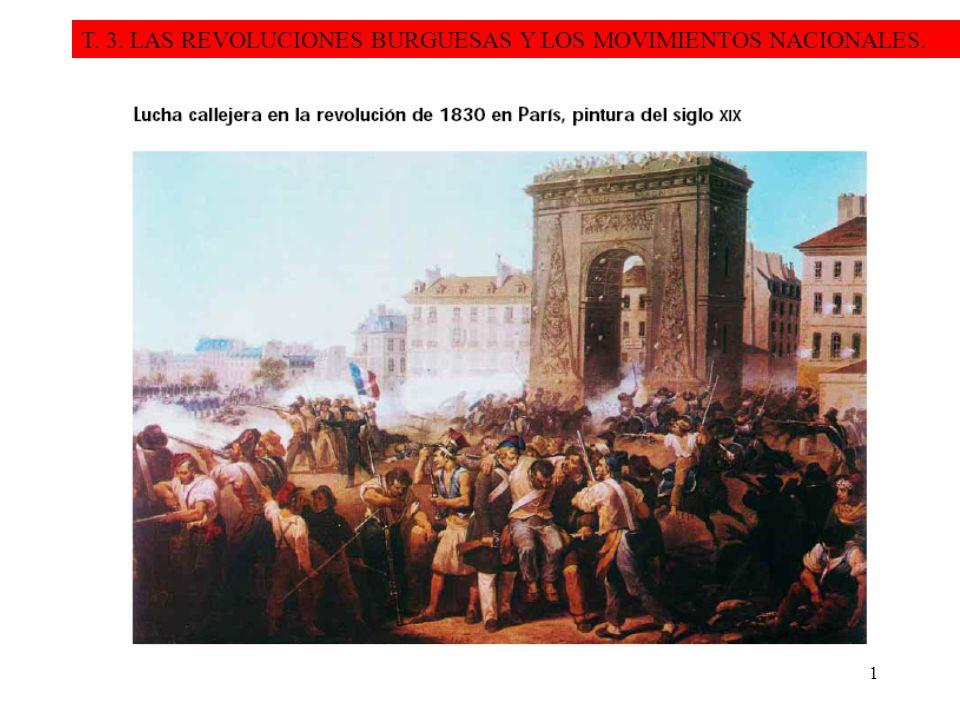 1 T. 3. LAS REVOLUCIONES BURGUESAS Y LOS MOVIMIENTOS NACIONALES.