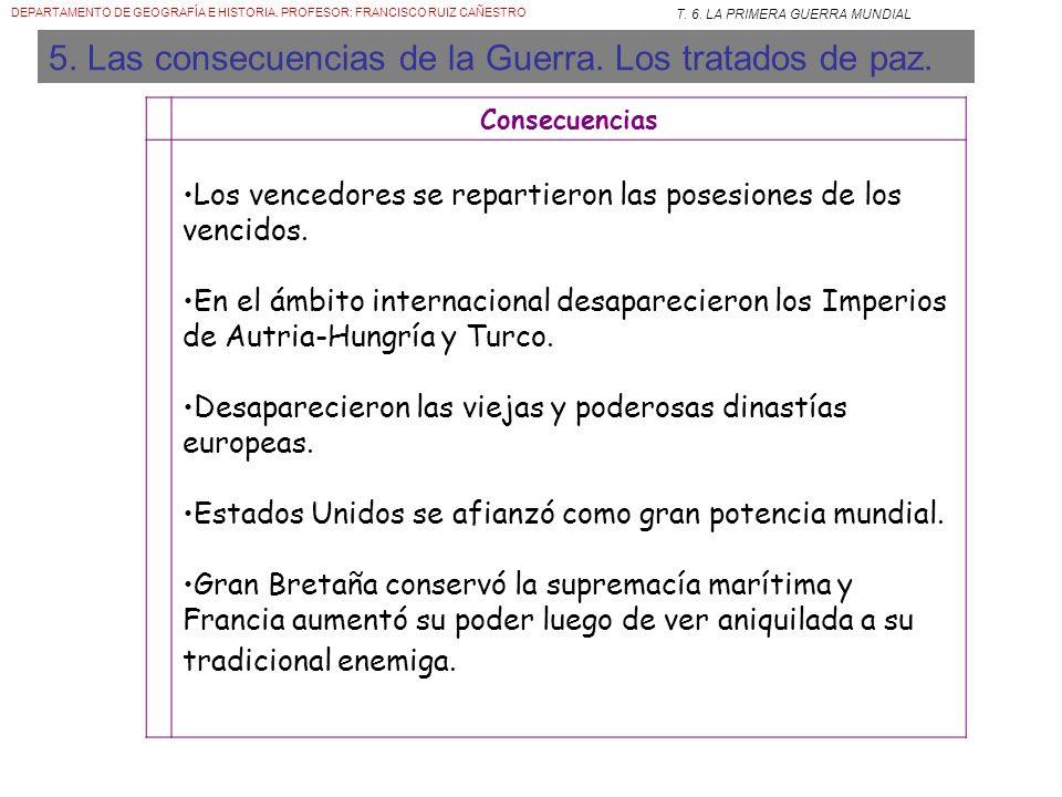 DEPARTAMENTO DE GEOGRAFÍA E HISTORIA. PROFESOR: FRANCISCO RUIZ CAÑESTRO T. 6. LA PRIMERA GUERRA MUNDIAL Ametralladora en un nuevo trípode especial par
