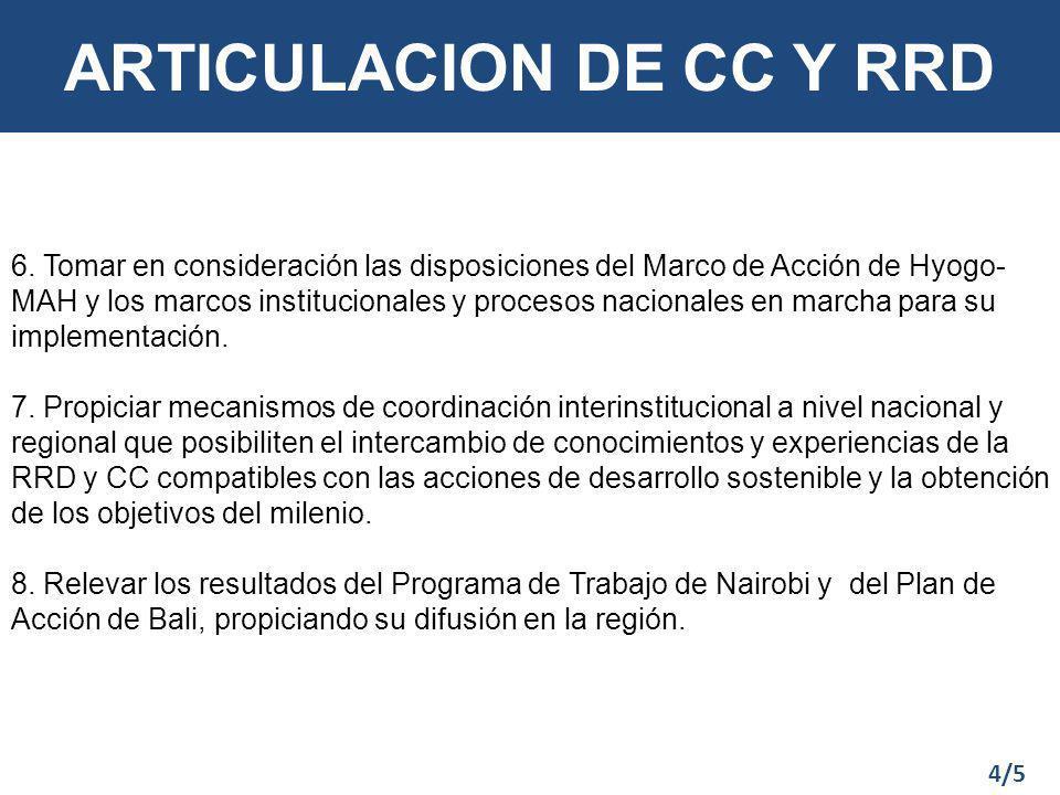 ARTICULACION DE CC Y RRD 6.