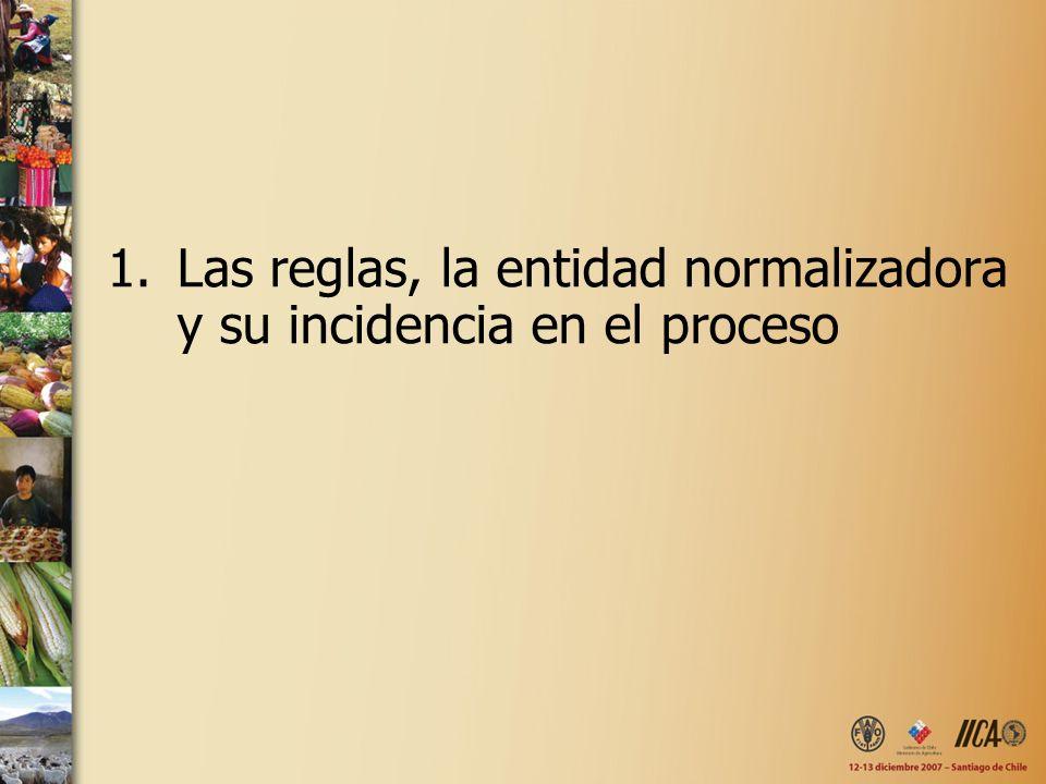 1.Las reglas, la entidad normalizadora y su incidencia en el proceso