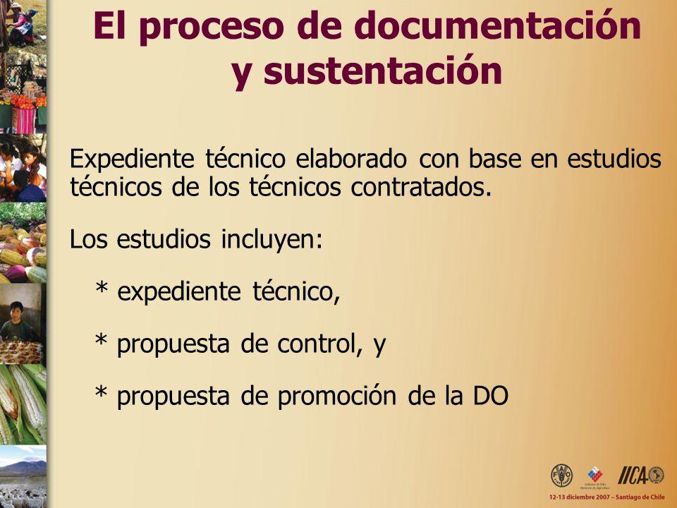 El proceso de documentación y sustentación Expediente técnico elaborado con base en estudios técnicos de los técnicos contratados. Los estudios incluy