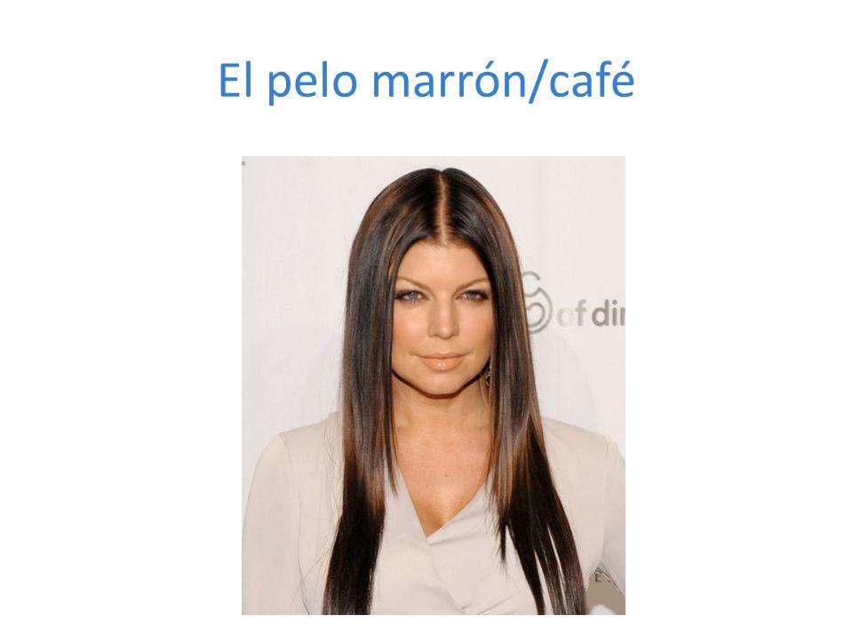 El pelo marrón/café