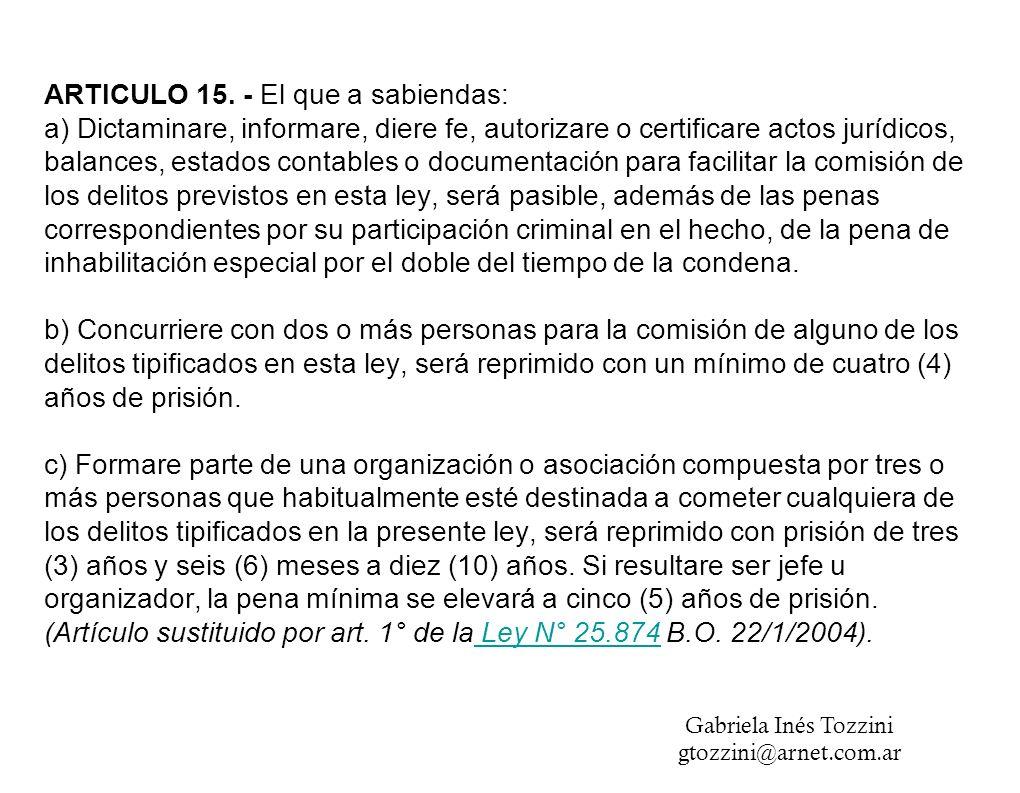 ARTICULO 15.