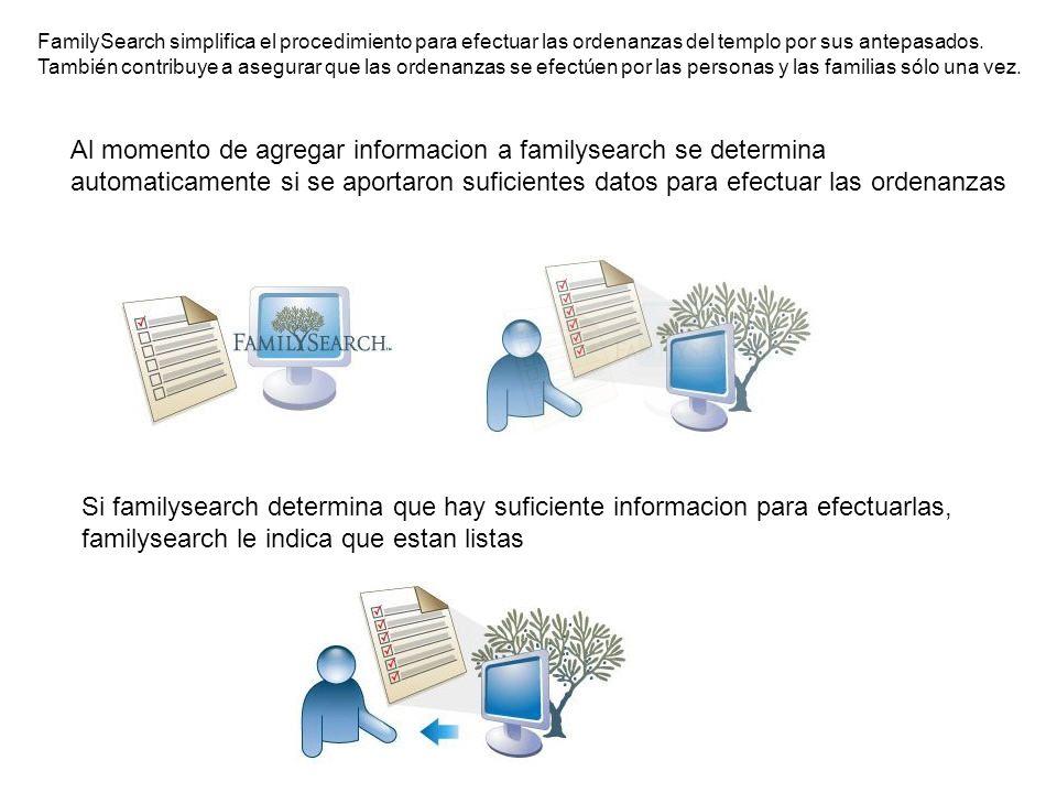 FamilySearch simplifica el procedimiento para efectuar las ordenanzas del templo por sus antepasados. También contribuye a asegurar que las ordenanzas