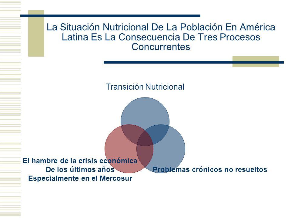 La Situación Nutricional De La Población En América Latina Es La Consecuencia De Tres Procesos Concurrentes Transición Nutricional Problemas crónicos