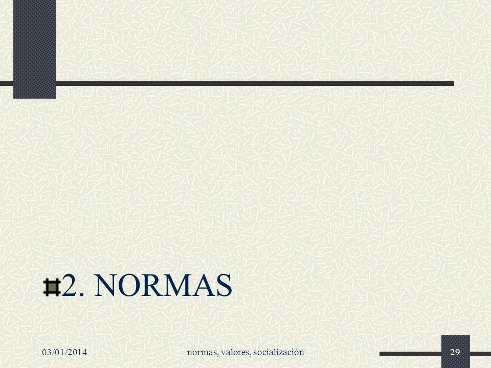2. NORMAS 03/01/2014normas, valores, socialización29
