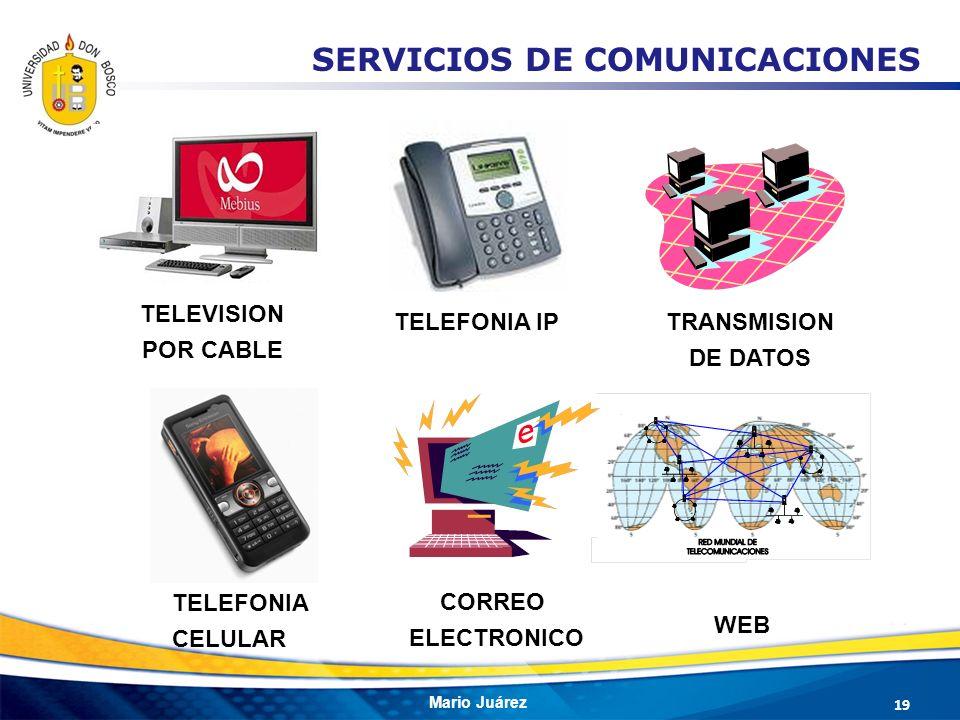 Mario Juárez TELEVISION POR CABLE TRANSMISION DE DATOS TELEFONIA IP CORREO ELECTRONICO WEB SERVICIOS DE COMUNICACIONES TELEFONIA CELULAR 19