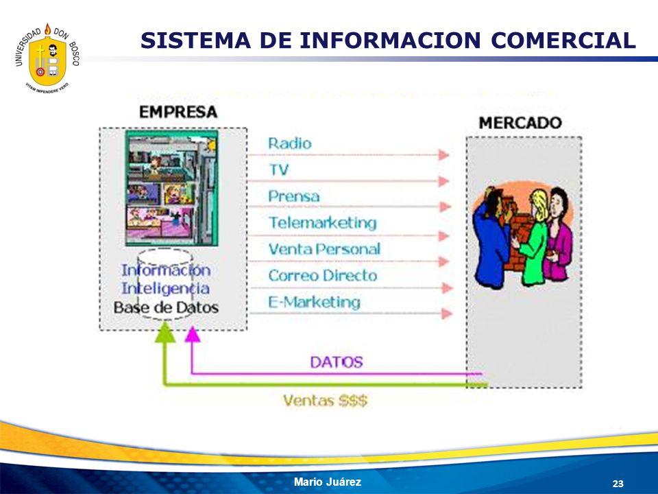 Mario Juárez SISTEMA DE INFORMACION COMERCIAL 23