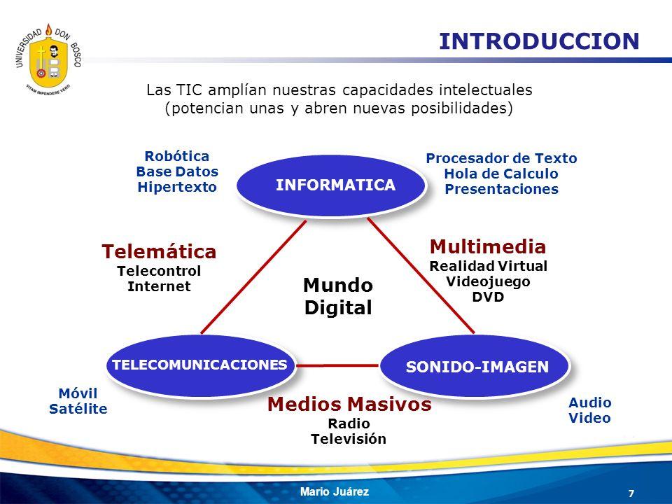 Mario Juárez Las TIC amplían nuestras capacidades intelectuales (potencian unas y abren nuevas posibilidades) INFORMATICA TELECOMUNICACIONES SONIDO-IM