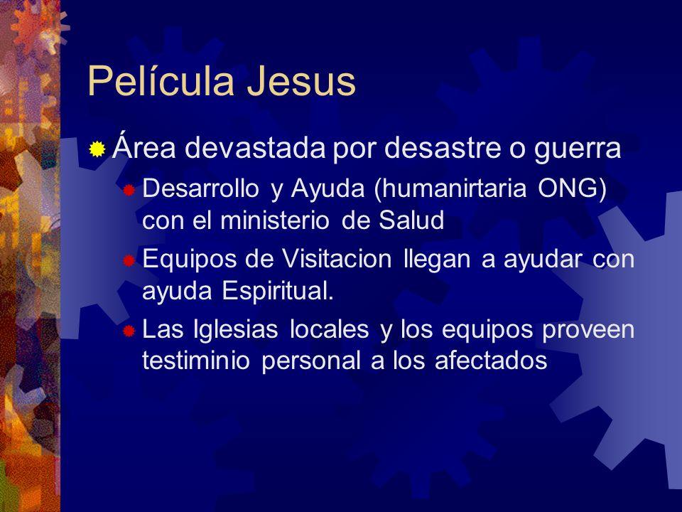 Película Jesus Área devastada por desastre o guerra Desarrollo y Ayuda (humanirtaria ONG) con el ministerio de Salud Equipos de Visitacion llegan a ay