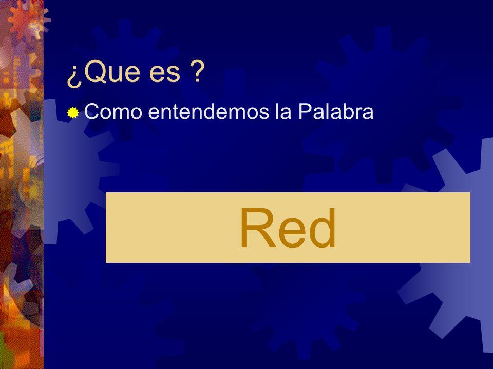 ¿Que es ? Como entendemos la Palabra Red