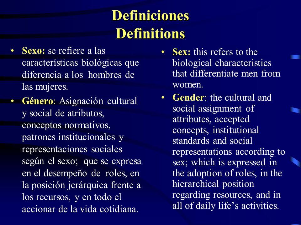Características de la Categoría Género Gender Category Caracteristics Histórica:Histórica: cambia con el tiempo y con el contexto cultural Relacional:Relacional: interdependencia entre los sexos articulados en relaciones de poder jerárquicas.