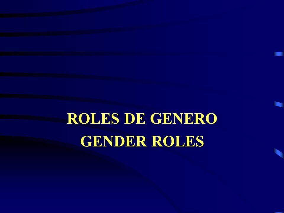 Roles de género Gender roles PRODUCTIVO: Incluye las acciones o tareas encaminadas a la producción de bienes y servicios remunerados en moneda o en especie o no remunerado,.