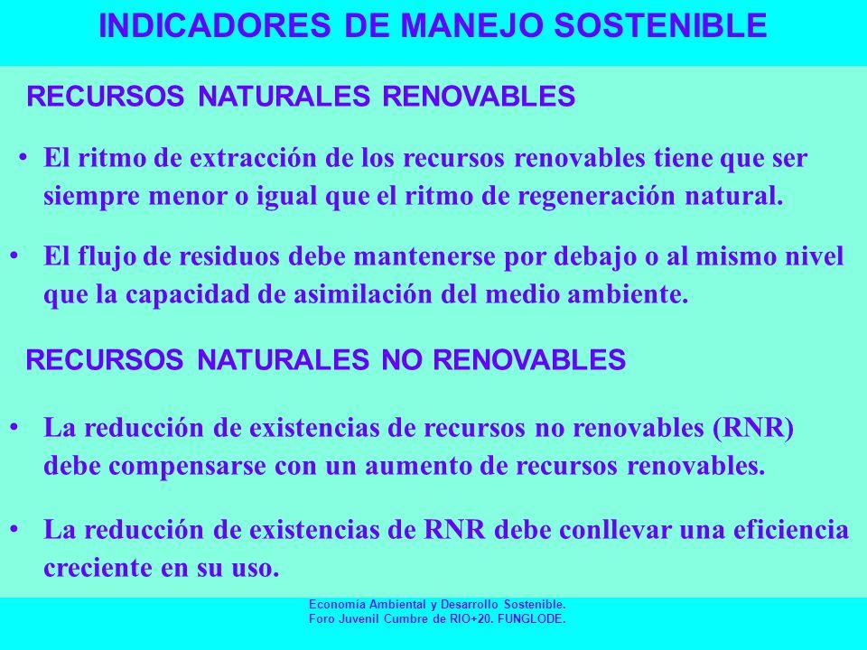 EN NUESTRAS MANOS ESTA EL FUTURO Economía Ambiental y Desarrollo Sostenible.