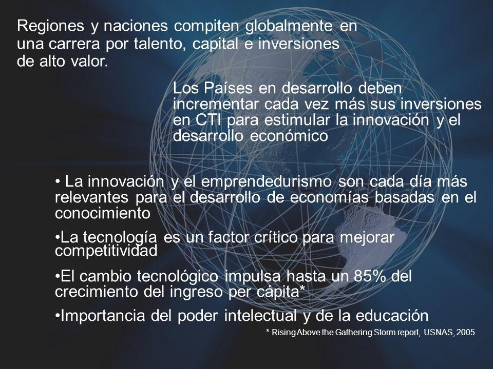 3 January 201413 Los Países en desarrollo deben incrementar cada vez más sus inversiones en CTI para estimular la innovación y el desarrollo económico