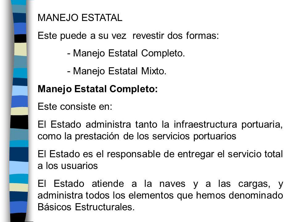 Manejo Mixto El sistema tiene algunas alternativas o combinaciones que posibilitan el acceso del sector privado Son los denominados sistemas de manejo mixto: El Estado administra la infraestructura El sector privado presta los servicios.