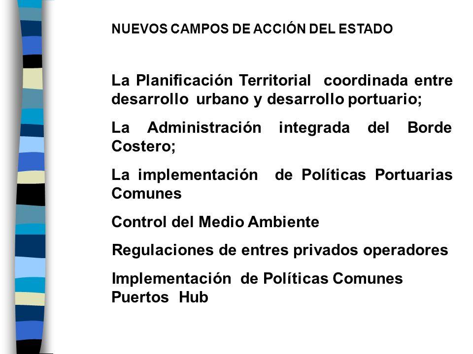 NUEVOS CAMPOS DE ACCIÓN DEL ESTADO La Planificación Territorial coordinada entre desarrollo urbano y desarrollo portuario; La Administración integrada