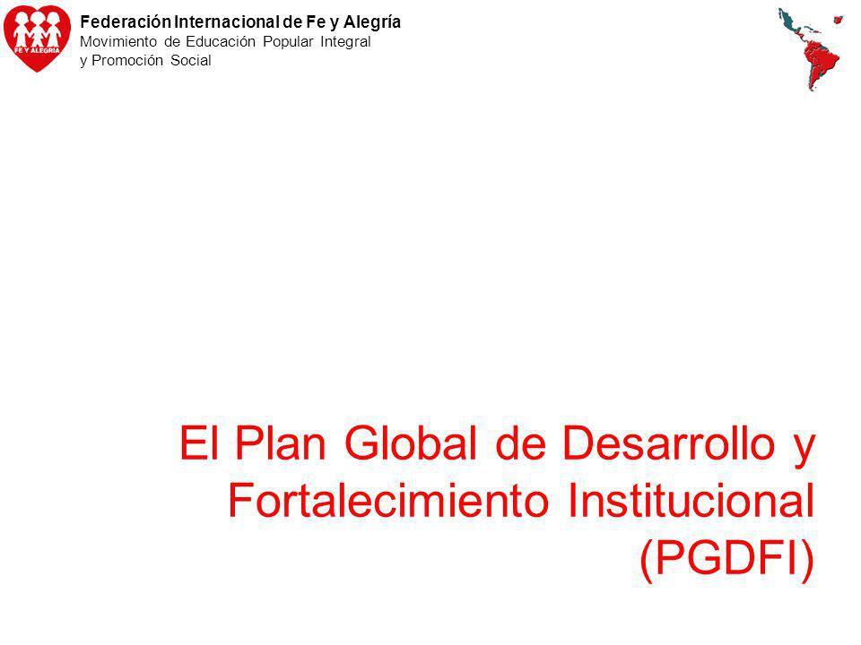 Federación Internacional de Fe y Alegría Movimiento de Educación Popular Integral y Promoción Social El Plan Global de Desarrollo y Fortalecimiento In
