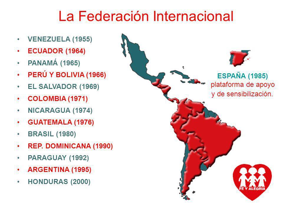 Federación Internacional de Fe y Alegría Movimiento de Educación Popular Integral y Promoción Social La Federación Internacional VENEZUELA (1955) ECUA