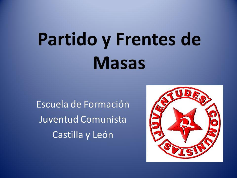 Partido y Frentes de Masas Escuela de Formación Juventud Comunista Castilla y León