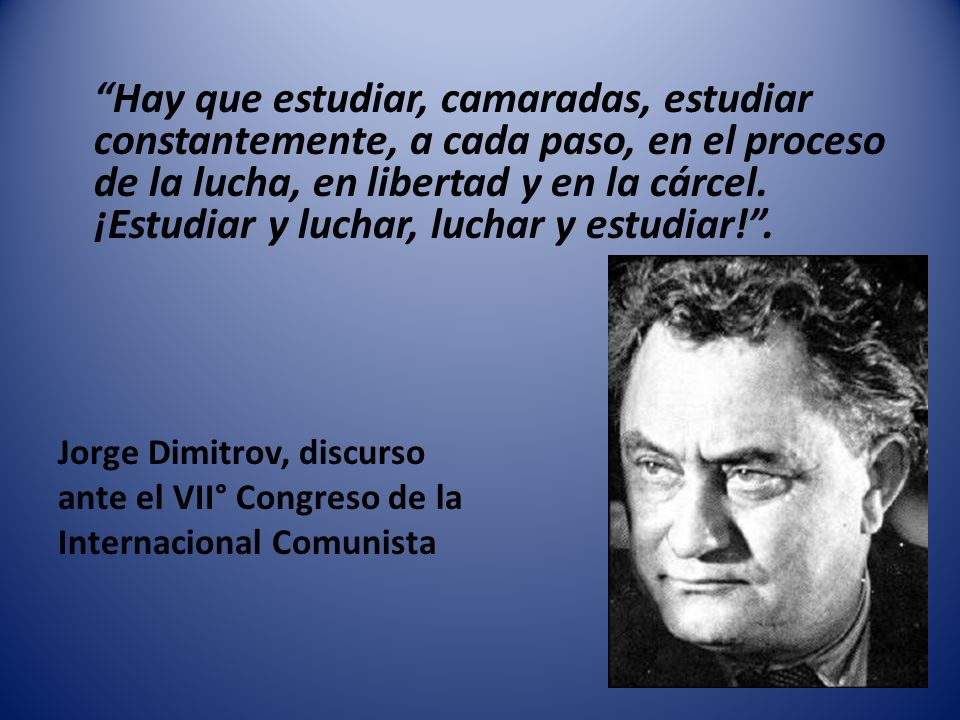 Partido ¿ Que es/debe ser el Partido Comunista.