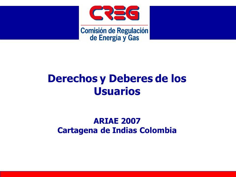 Principios Regulatorios Generales Marco Institucional Caso Colombiano –Descripción del Entorno –G –GN –Energía Eléctrica El Contrato de Condiciones Uniformes (R108/97) Agenda