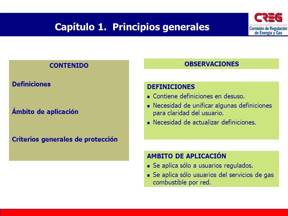 CONTENIDO Definiciones Ámbito de aplicación Criterios generales de protección DEFINICIONES Contiene definiciones en desuso. Necesidad de unificar algu