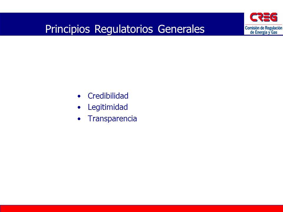 Elementos que determinan el cumplimiento de los Principios Independencia Rendición de Cuentas Participación Pública Previsilidad Claridad de Roles Principios Regulatorios Generales