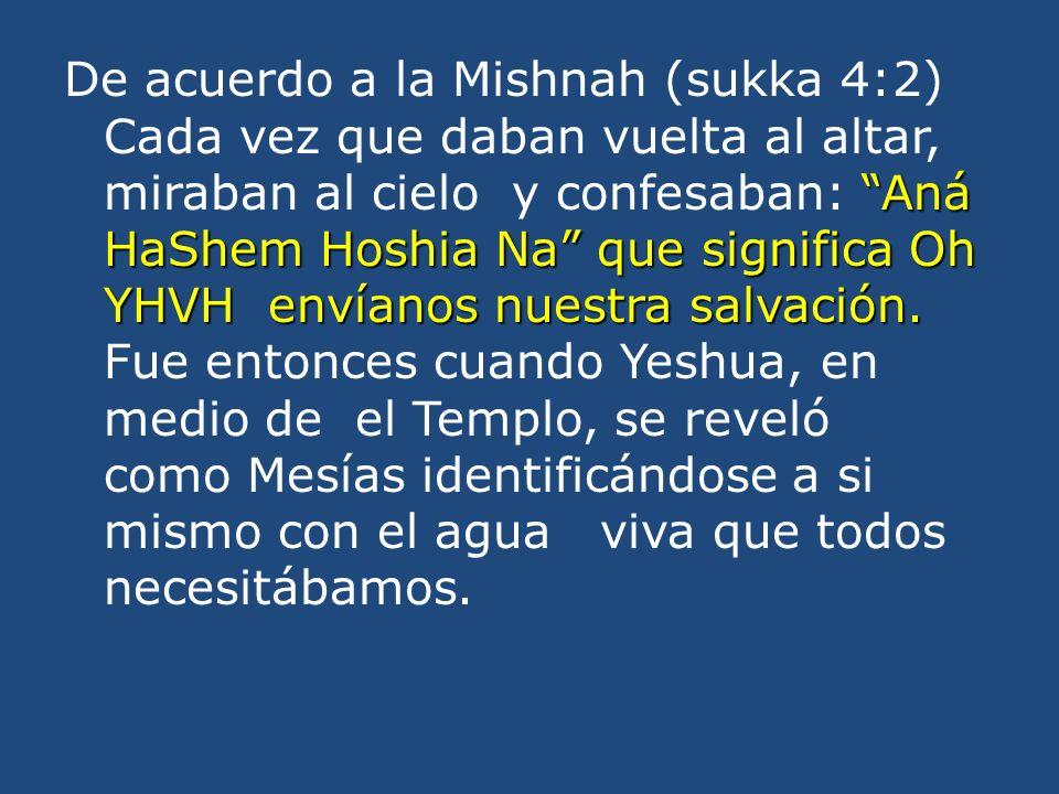 Aná HaShem Hoshia Na que significa Oh YHVH envíanos nuestra salvación.