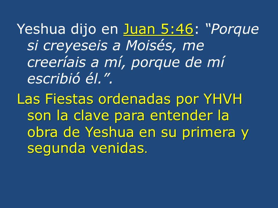Juan 5:46 Yeshua dijo en Juan 5:46: Porque si creyeseis a Moisés, me creeríais a mí, porque de mí escribió él..
