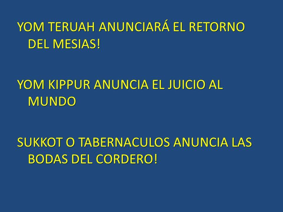 YOM TERUAH ANUNCIARÁ EL RETORNO DEL MESIAS.