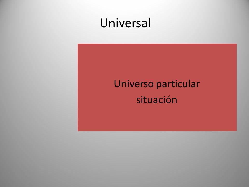 Universo particular situación Universal