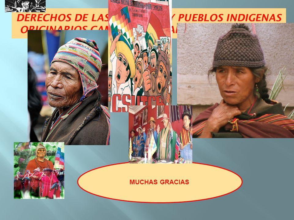MUCHAS GRACIAS DERECHOS DE LAS NACIONES Y PUEBLOS INDIGENAS ORIGINARIOS CAMPESINOS Y AFRODESCENDIENTES