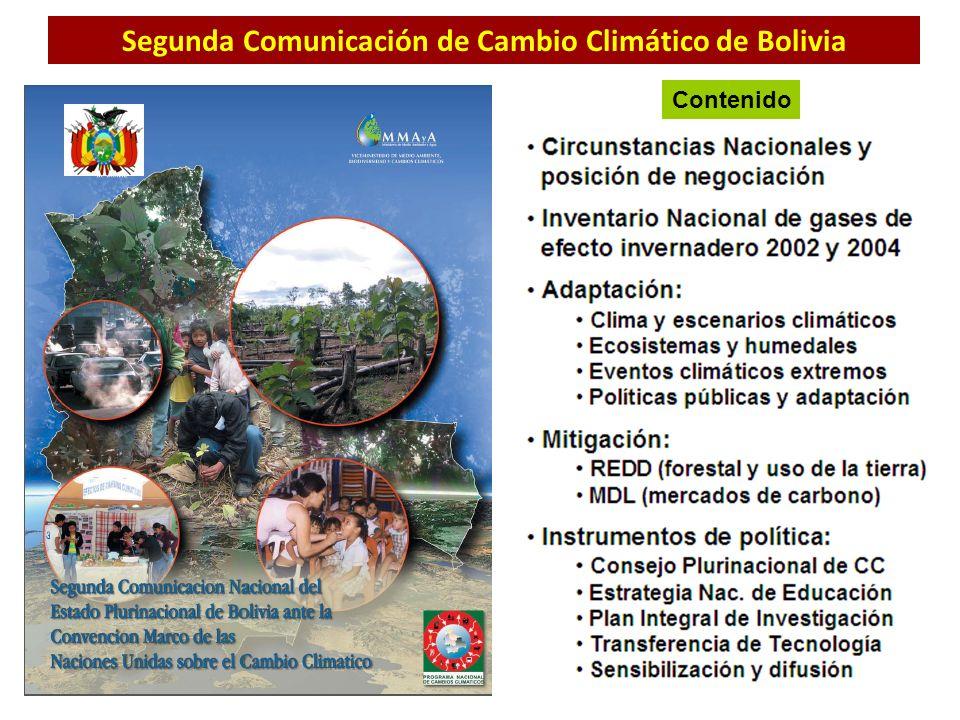 Segunda Comunicación de Cambio Climático de Bolivia