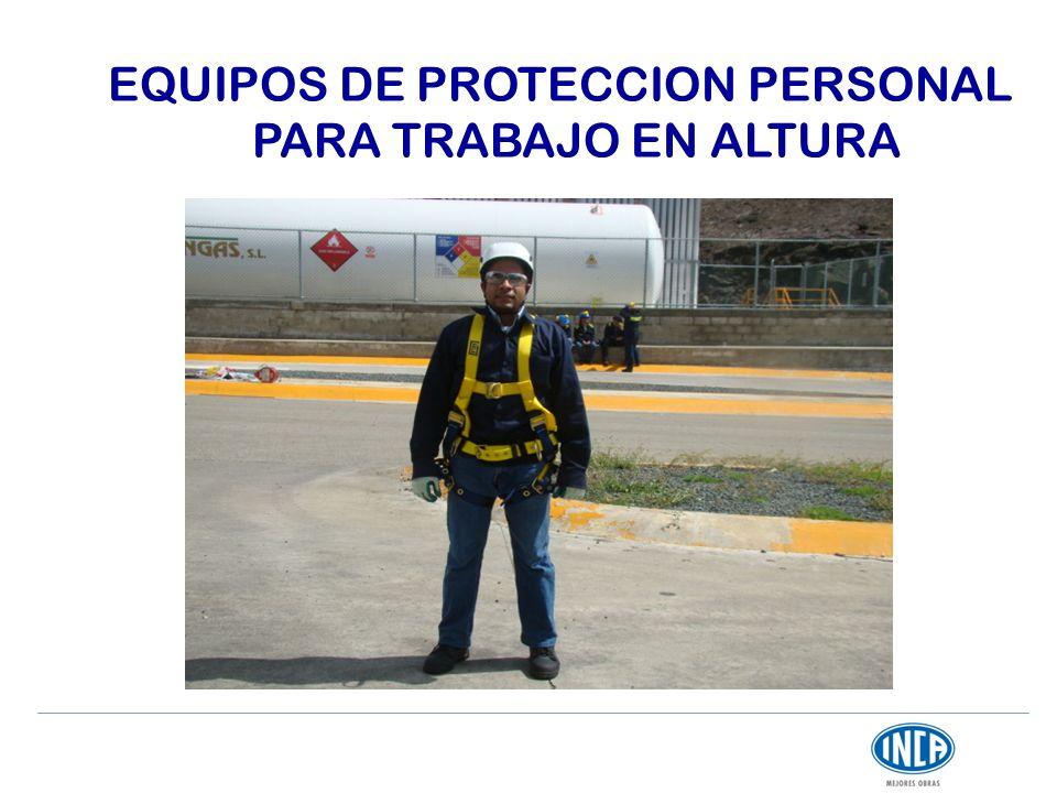 EQUIPOS DE PROTECCION PERSONAL PARA TRABAJO EN ALTURA